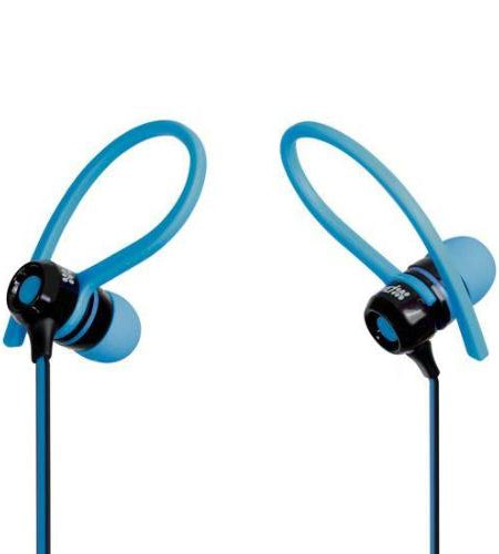 PROMATE Universal Sports Clip-On Stereo Gear-Buds with Passive Noise Colour Blue