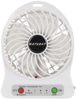 Mini Personal Cooling Desk Fan, USB Rechargeable with LED Light