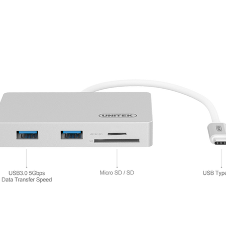 Unitek USB3.0 Type-C Multi-Port Hub with Power Delivery