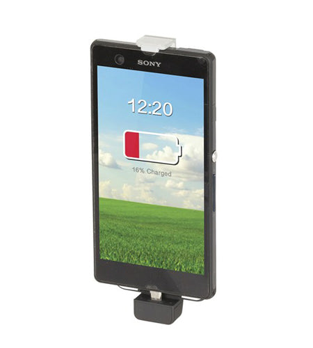 Smartphone Back-Up Battery Case, Adjustable with USB Micro B Plug