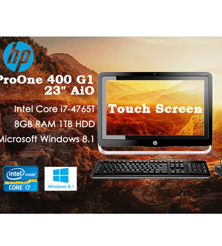HP ProOne 400 G1 AIO 23'' i7 8GB 1TB HDD Touchscreen All-In-One Desktop - Ex Lease Grade A