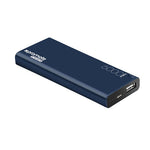 PROMATE 6000mAh Ultra-Sleek Portable Power Bank. Lithium polymer battery. Blue