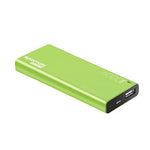 PROMATE 6000mAh Ultra-Sleek Portable Power Bank. Green