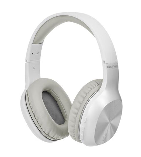 PROMATE On-Ear Bluetooth Stereo Headset White