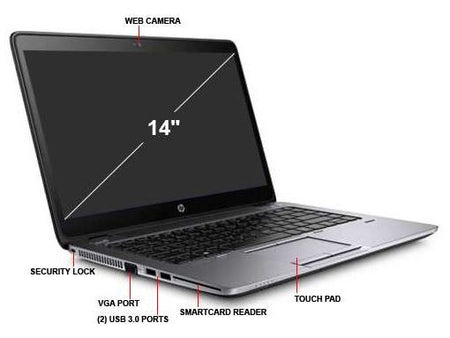 "HP Elitebook 840 G1 14"" i5 8GB 500GB HDD Laptop - Ex Lease Grade A"