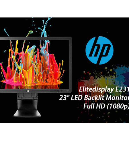 "HP Elitedisplay E231 23"" LED Backlit Monitor 1920x1080 - Ex Lease Grade A"