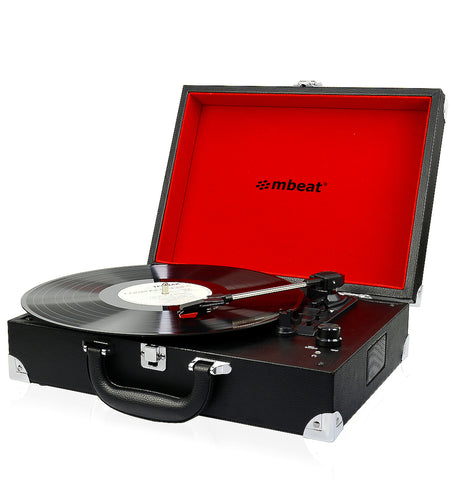 mBeat Retro Briefcase-styled Turntable