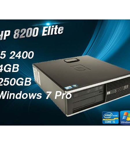 HP Compaq 8200 Elite SFF i5 4GB 250GB Desktop- Ex Lease Grade A