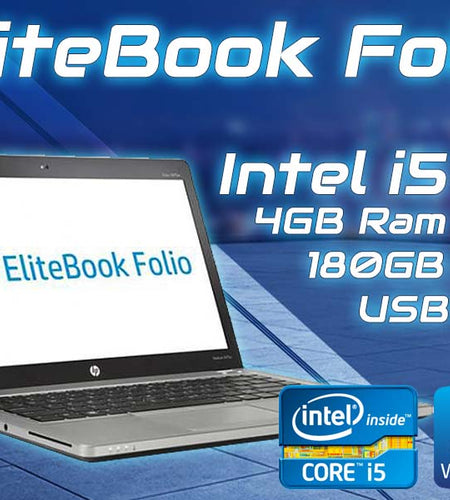 HP Elitebook Folio 9470M i5 4GB 180GB SSD Laptop - Ex Lease Grade A