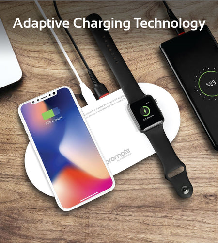 Wireless 3-in-1 Charging Pad for Apple iPhone & Watch with USB-C - 2 Colours