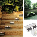 Solar LED Step Lights - 2 Pack
