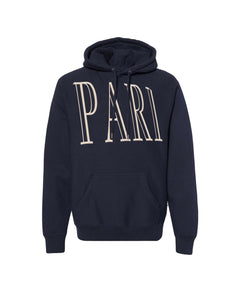 "Navy ""PARI"" The Weighted Hoodie"