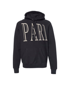 "Black ""PARI"" The Weighted Hoodie"