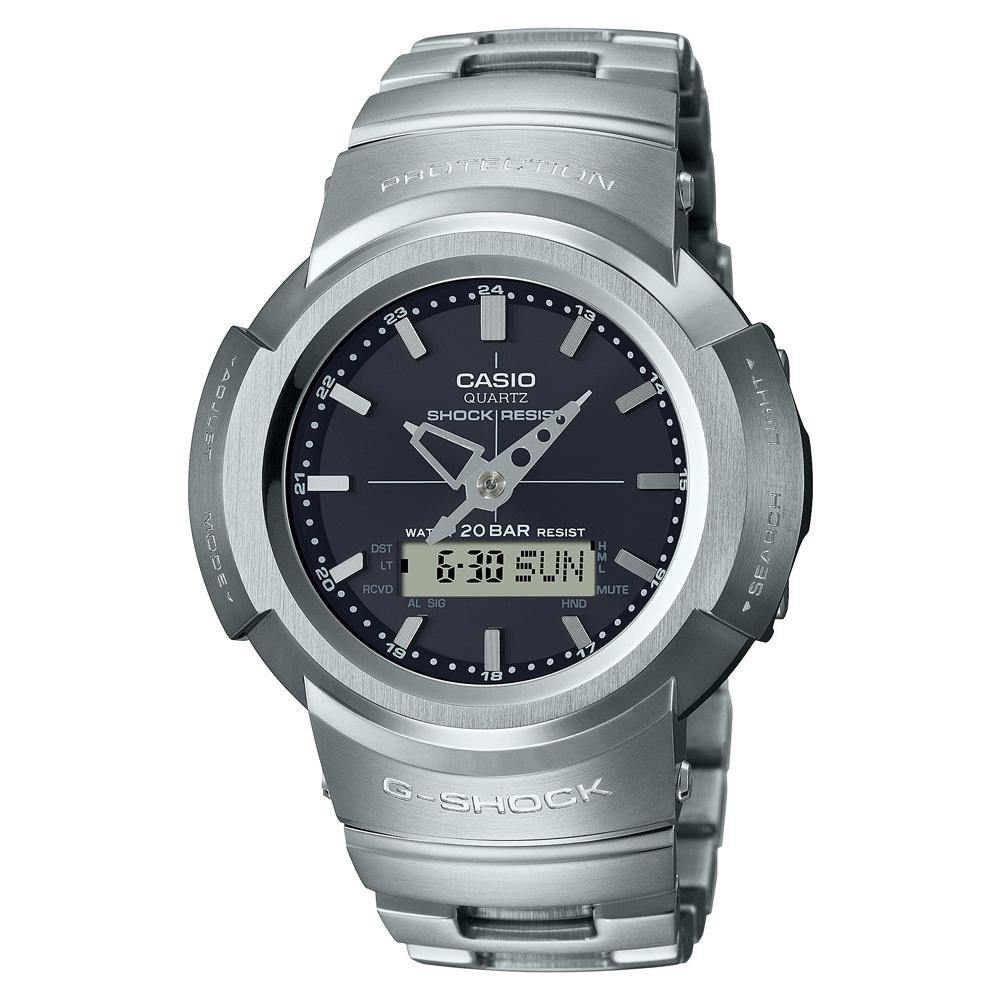 G-Shock Full Metal Silver Black Watch AWM-500D-1A