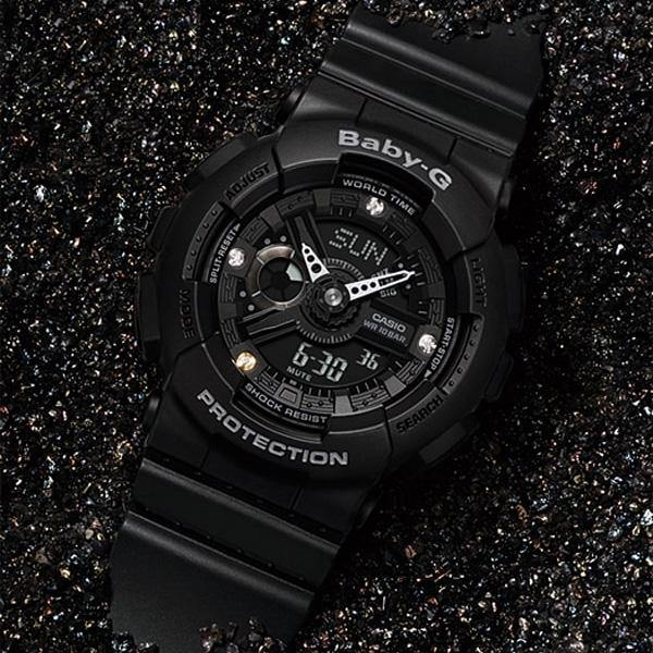 Baby-G Genuine Diamond Index Watch BA-135DD-1A