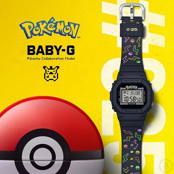 Casio Baby-G Pokemom Pikachu Watch BGD-560PKC-1