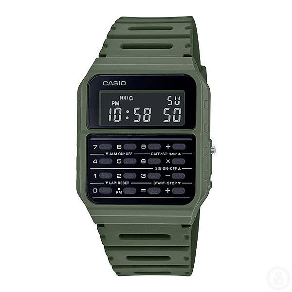 Casio Vintage Series Data Bank Green Watch CA-53WF-3B