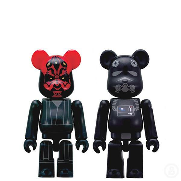 Bearbrick Darth Maul & Tie Fighter Pilot Keychains
