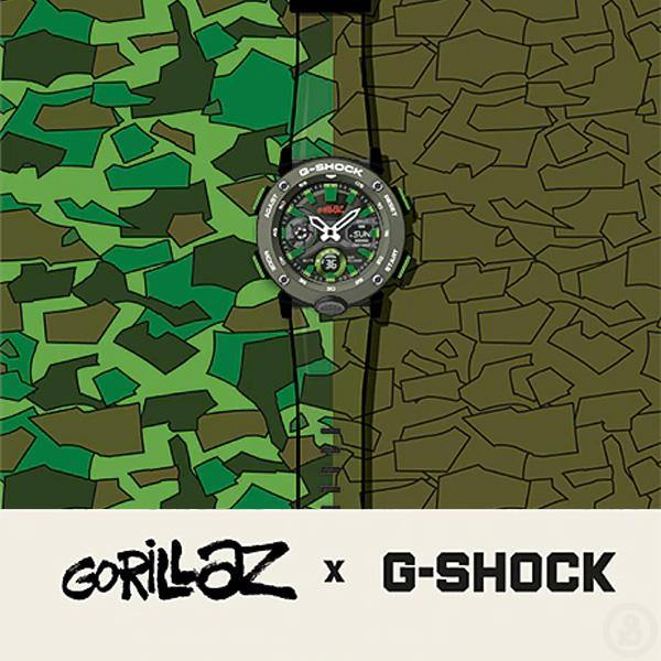 G-Shock x Gorillaz Watch GA-2000GZ-3A