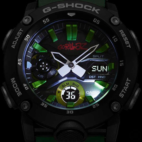 G-SHOCK Gorillaz GA-2000GZ-3A Backlight