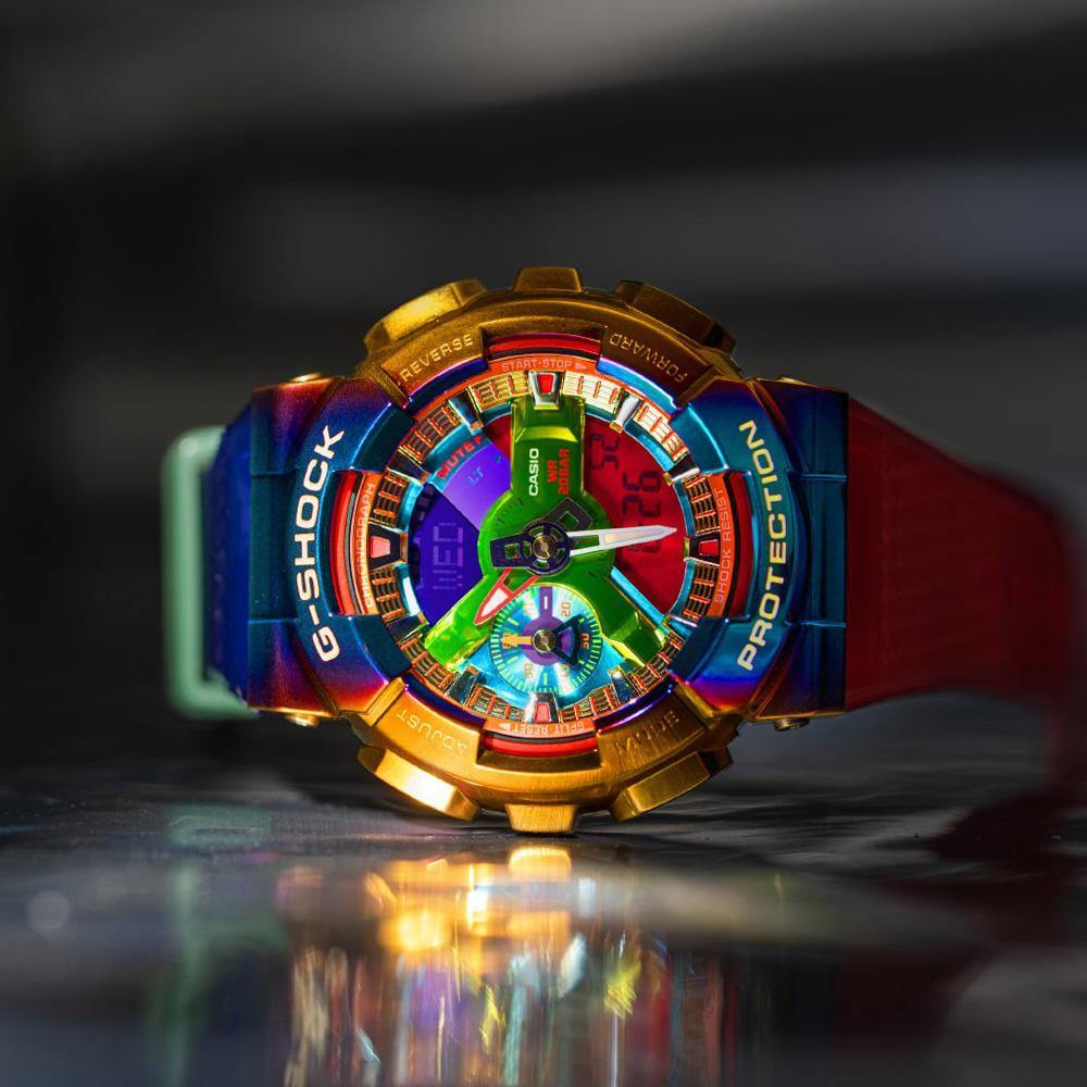 G-Shock Metal Rainbow Bezel Watch GM110RB-2A