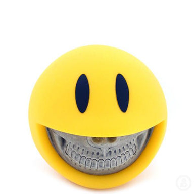 Ron English Smiley Grin Yellow Coin Bank