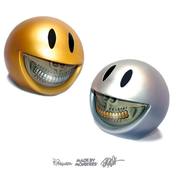 Ron English Platinum / Gold Smiley Grin