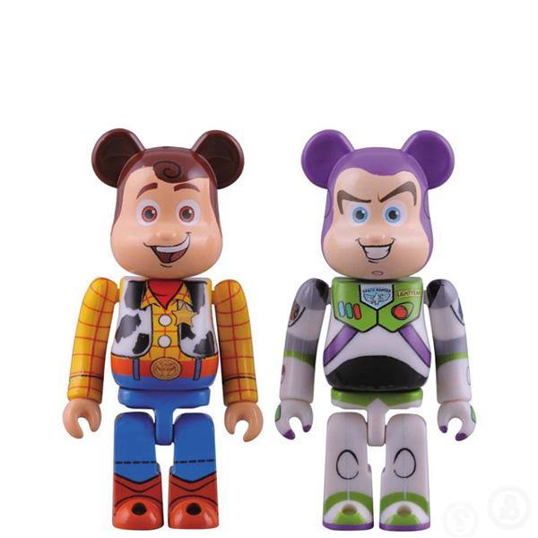 Bearbrick Woody & Buzz Lightyear 100%