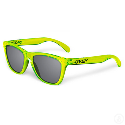 Oakley Frogskins 24-249 Acid Green Grey Sunglasses