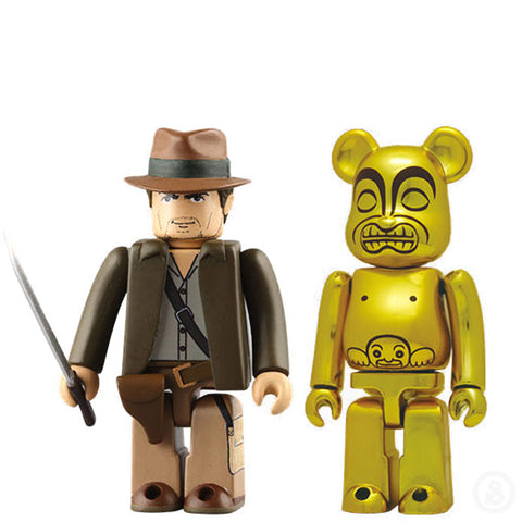 Kubrick Indiana Jones & Bearbrick Golden Idol 100%
