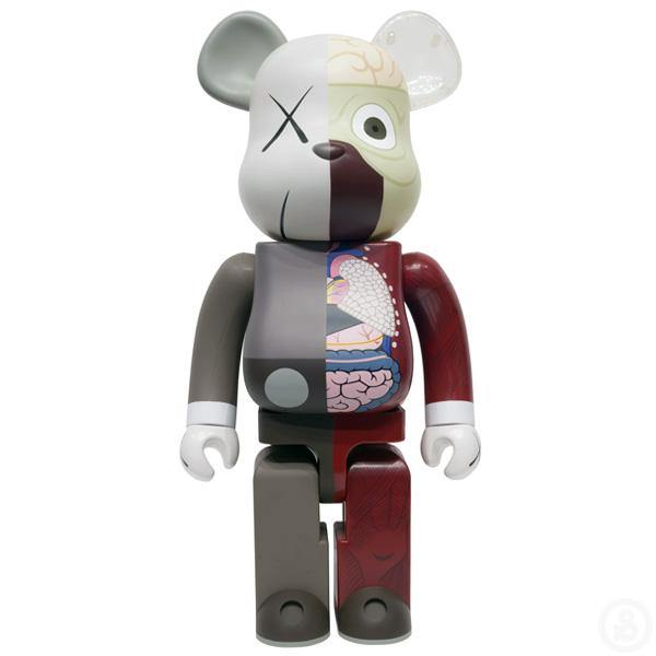 Bearbrick Kaws Dissected Companion Brown 1000%