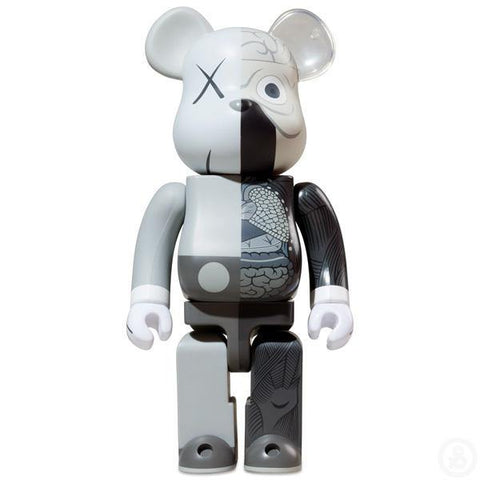 Be@rbrick Kaws Dissected Companion Grey 1000%