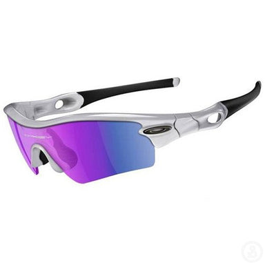 Oakley Radar White Chrome Path Blue Iridium Sunglasses