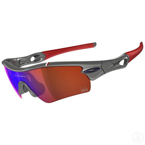 Oakley Team USA Radar Path Grey / Blue Iridium Sunglasses