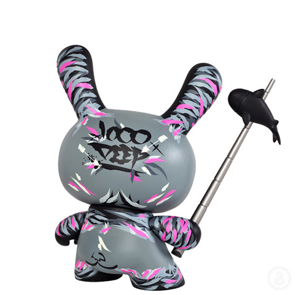 "Kidrobot Angry Woebots Shadow Friend 8"" Dunny"