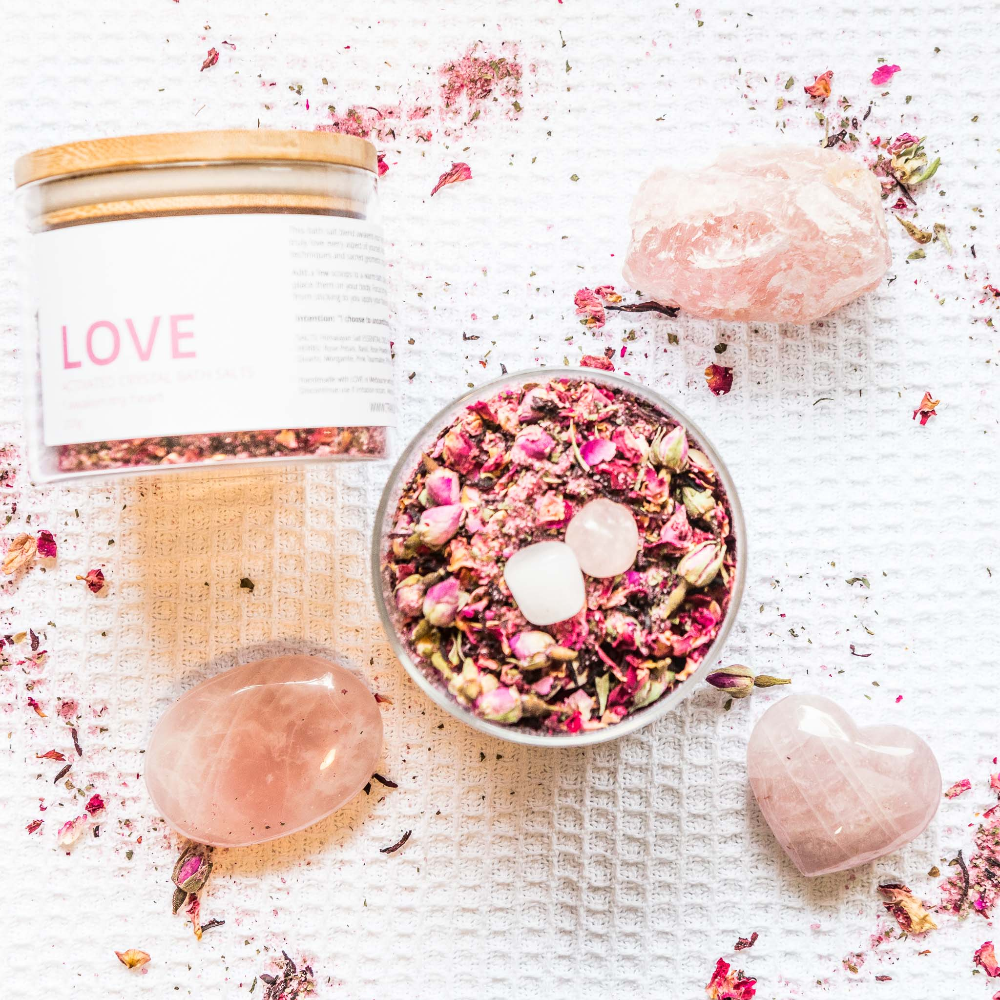 LOVE - Activated Crystal Bath Salt Blend