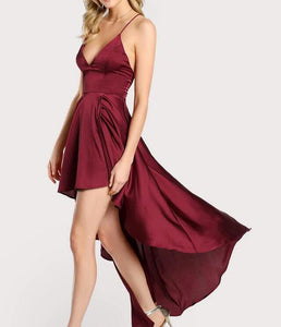 Deep V Neck Spaghetti Strap Sleeveless Maxi Dress