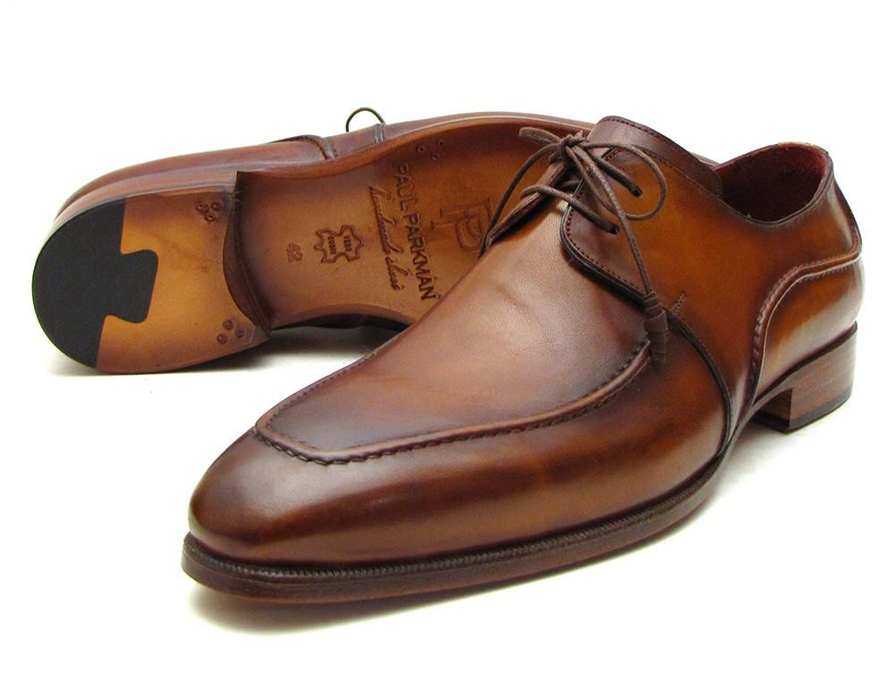 Paul Parkman Men's Brown Derby Dress Shoes For Men (ID#SU12LF)