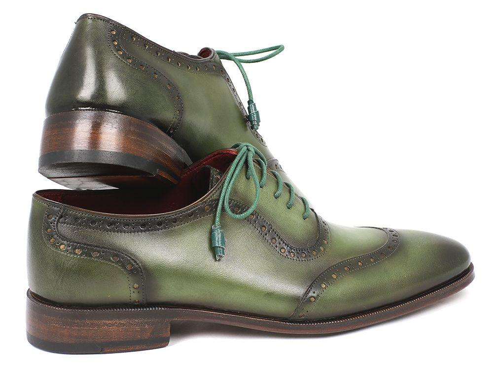 Paul Parkman Men's Green Calfskin Oxfords (ID#K78-GRN)