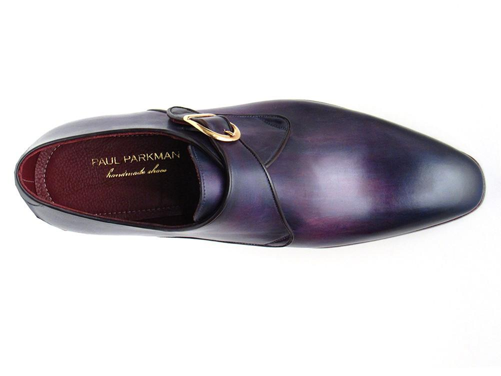 Paul Parkman Single Monkstrap Shoes Purple Leather (ID#DW754T)