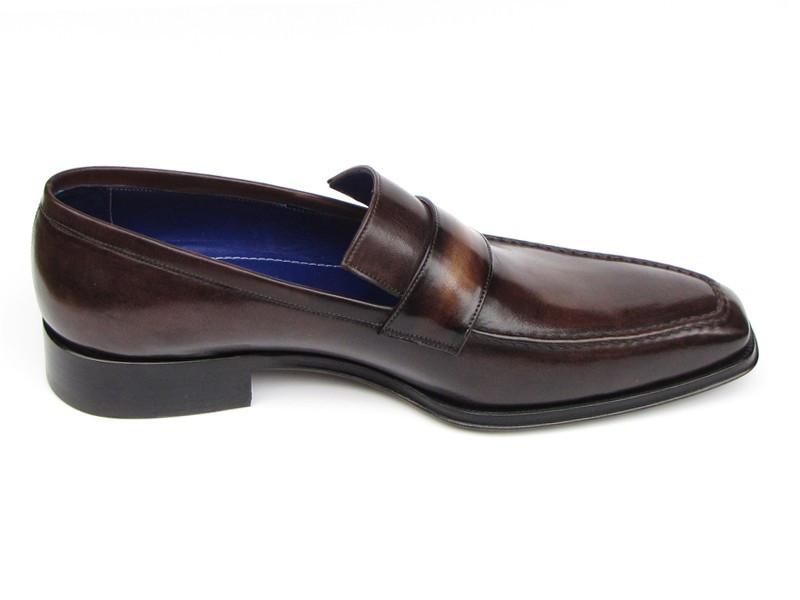 Paul Parkman Men's Loafer Bronze Hand Painted Shoes (ID#012-BRNZ)