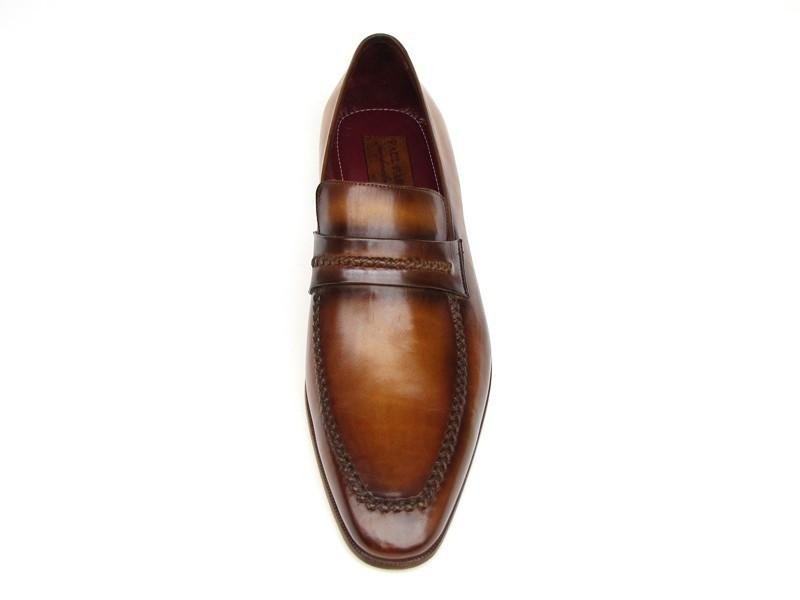Paul Parkman Men's Loafer Brown Leather Shoes (ID#068-CML)
