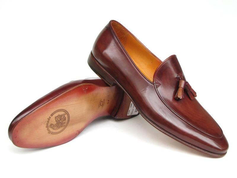 Paul Parkman Tassel Loafer Brown Hand Painted (ID#049-BRW)