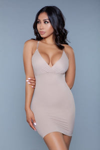 Women's Curved Craze Shape wear Dress Nude