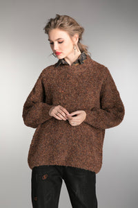 Women's Brown Oversize Sweater