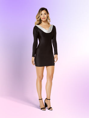 3367 - Bodycon Dress with Open Back Design, Women's Fashion - Women's Clothing - Mini Dresses - Smash Marketing