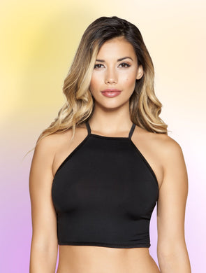 3397 - Halter Neck Crop Top with Strappy Back, Women's Fashion - Women's Clothing - Crop Tops - Smash Marketing