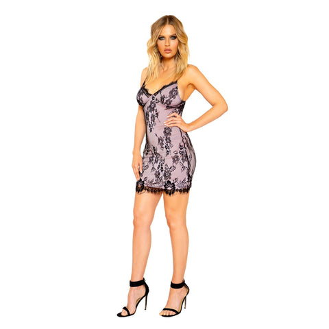 3776 - Eyelash Lace Mini Dress with Contrast Color Lining - Women's Fashion - Women's Clothing - Mini Dresses - Smash Marketing