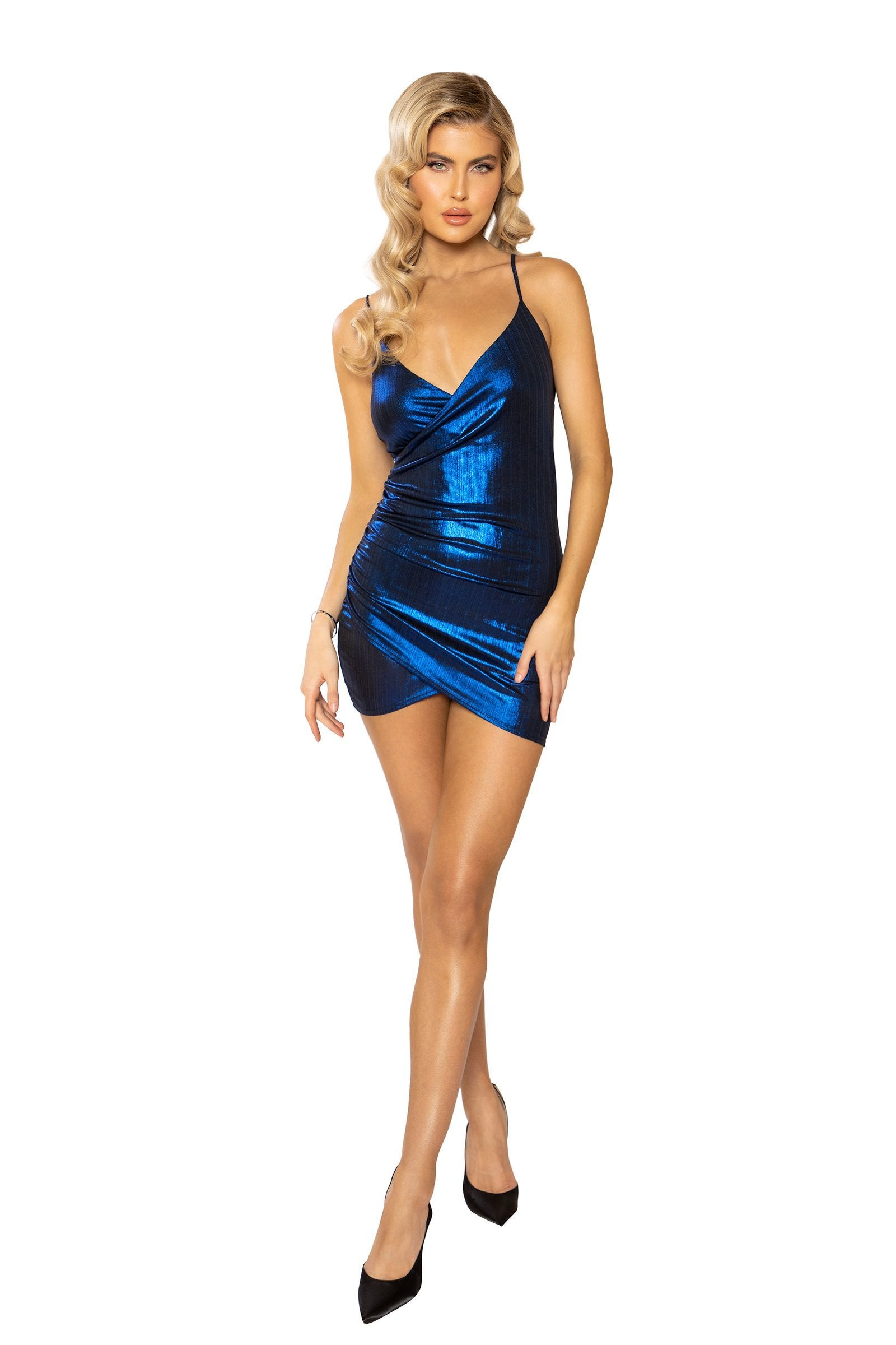 3925 - Shimmer Spaghetti Strap Dress