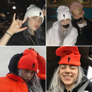Knitted Billie Eilish Beanie Hat for Women